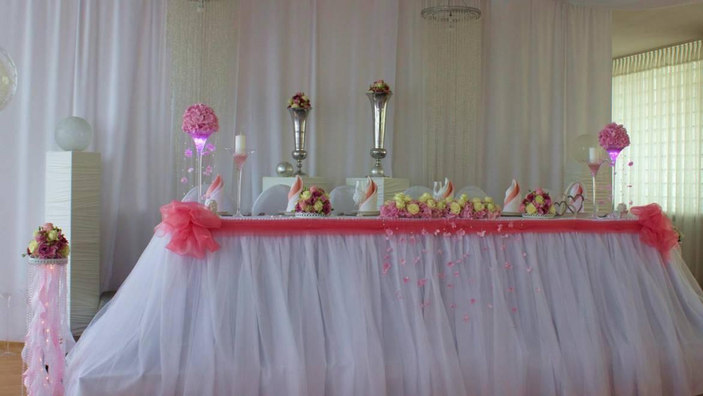Hochzeitsdeko in Rosa