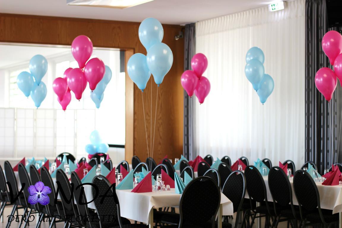 Hochzeitsdeko luftballons helium vanda deko und floristik for Dekoration mit luftballons