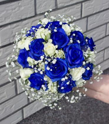 Blumendeko für Hochzeit in Blau oder Türkis