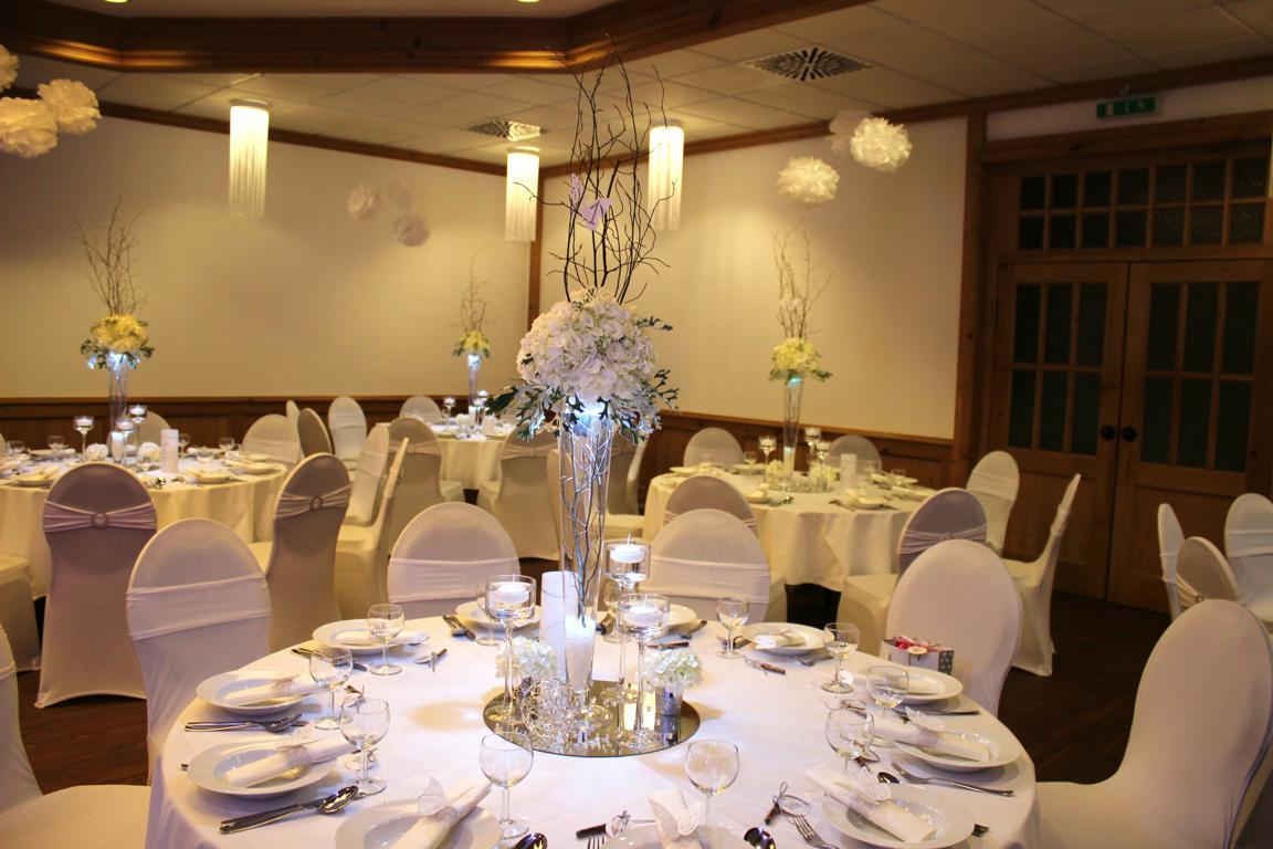 Hochzeitsdekoration und Floristik