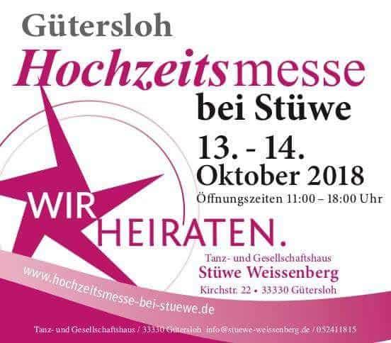 Hochzeitsmesse in Gütersloh am 13.10.2018