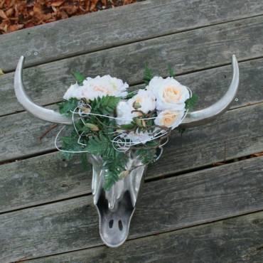 Wanddeko modern im Bohemian Style mit Kunstblumen