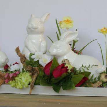 Osterdeko selber basteln – Blumen-Workshop
